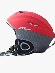 Unisex Helm L: 58-61cm Sport Extraleicht(UL) Befestigt 14 ASTM F 2040 Schnee Sport / Ski Rot PC / EPS