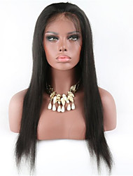 Natural Color Silk Straight Lace Wig 10-26 Inch U Part Lace Front Wig With Baby Hair
