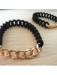 Men's Circle Black Silicone  Loom Bracelet 1PC