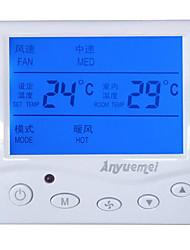 painel interruptor de três velocidade do ar-condicionado central controlador de temperatura da bobina do ventilador