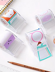 Creative Lovely Expression Sticky Pedestal Colored Tape Tearable Paper Notes (Random Color)