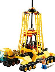 Blocs de Construction Pour cadeau Blocs de Construction Maquette & Jeu de Construction Chariot Elévateur Plastique 8 à 13 ans Jaune Jouets