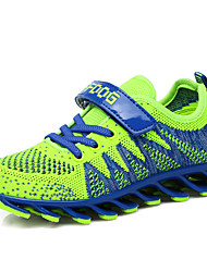 Boy's Athletic Shoes Spring Fall Comfort Tulle Outdoor Flat Heel Lace-up Magic Tape Blue Green