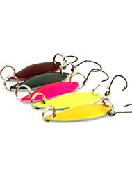 """5 pcs Cuillères Multicolore 3 g/1/8 Once,30 mm/1-1/4"""" pouce,MétalPêche en mer / Pêche aux spinnerbaits / Pêche aux jigs / Pêche d'eau"""