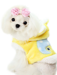 Dog Coat Yellow / Blue / Pink Dog Clothes Winter Fashion