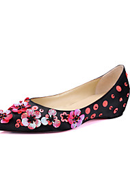 Women's Shoes  Spring / Summer / Fall Comfort / Pointed Toe / Flats Flats  / Dress / Casual Flat Heel Flower (Leather)