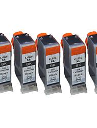 canon compatibilité ix6580 ip4980 mg5180 mg5280 mg5380 des cartouches d'imprimante (un parc de 5)