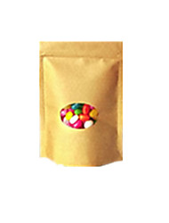 Yellow Color, Other Material Packaging & Shipping 20 * 30 Round Window Without Printing Kraft Paper Bags A Pack of Eight