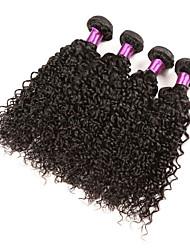Человека ткет Волосы Бразильские волосы Kinky Curly 18 месяцев 4 предмета волосы ткет