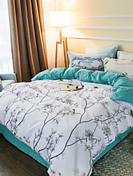 Forest 800TC bedding sets Queen King size Bedlinen printing sheets pillowcases Duvet cover sanding Cotton