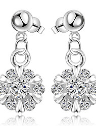 Earring Flower Jewelry Women Fashion Wedding / Party / Daily / Casual Silver Plated 1 pair Silver