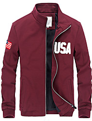 The new spring jacket young male Korean cultivating USA Monogrammed jacket collar coat with tide