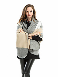 Women Lamb Fur Scarf,Casual RectanglePlaid