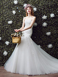 Trumpet / Mermaid Wedding Dress Floor-length Sweetheart Lace / Tulle with Lace