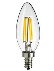 4W E14 360lm levou filamento estilo da ponta chama lâmpada (AC220-240V)