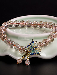 Strand Bracelets Strawberry Crystal Fashionable Daily / Casual Jewelry Gift Pink