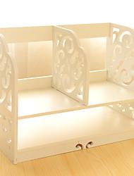 la plaque bois-plastique sculpture en rack de stockage à six couches