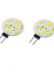 6W G4 LED à Double Broches T 9 SMD 5730 600 lm Blanc Chaud / Blanc Froid Décorative DC 24 / 9-30 / DC 12 / AC 12 / AC 24 V 2 pièces