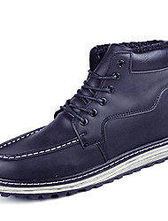 Men Genuine Leather Cotton Boots Fashion Business Boots