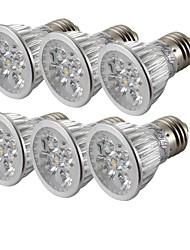 4 E26/E27 Spot LED MR16 4 LED Haute Puissance 360 lm Blanc Chaud / Blanc Froid Décorative AC 85-265 V 6 pièces