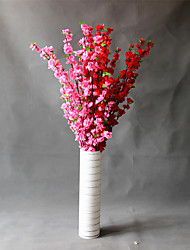 Hi-Q 1Pc Decorative Flowers Real For Wedding Home Table Decoration Peach Blossom Artificial Flowers