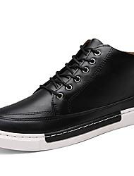 Herren-Sneaker-Outddor / Lässig / Party & Festivität-Stoff / Leder-Flacher Absatz-Komfort-Schwarz / Gelb / Grau