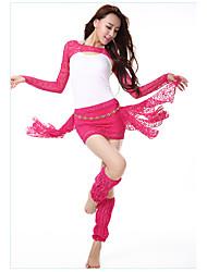 Tenue(Bleu / Fuchsia / Bordeaux,Dentelle,Danse du ventre)Danse du ventre- pourFemme Dentelle Entraînement Danse du ventre Taille moyenne