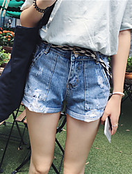 Damen Hose - Street Schick Jeans / Kurze Hose Baumwolle Mikro-elastisch