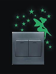 Romance Stickers muraux Stickers avion / Stickers muraux lumineux Stickers muraux décoratifs / Stickers d'interrupteurs,PVC Matériel