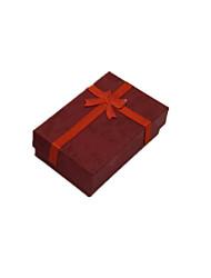 emballage de couleur rouge&expédition bijoux emballage boîte un paquet de dix