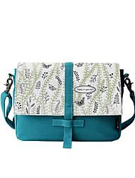 Flower Princess® Women Canvas Shoulder Bag Green-1601XD001