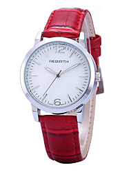 REBIRTH® Women's Simple Fashion Watch PU Leather Strap Quartz Casual Wrist Watch