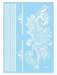 1 Tatuagem Adesiva Séries Flores Non Toxic / Estampado / Waterproof / hena / CasamentoFeminino / Adulto Flash do tatuagemTatuagens
