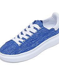 Feminino-TênisRasteiro-Preto Vermelho Branco Azul Real-Tecido-Casual Para Esporte