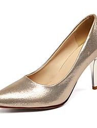 Damen-High Heels-Büro / Lässig / Party & Festivität-Kunstleder-Stöckelabsatz-Absätze / Pumps / Spitzschuh-Blau / Silber / Gold / Fuchsie