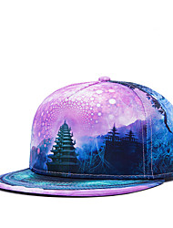 Hip Hop Women Men Street Dance Galaxy Tower Print Adjustable Patchwork 3D Baseball Cap
