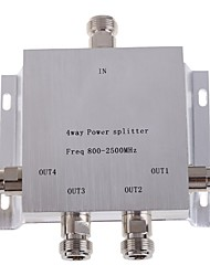 4-Way N Female Power Divider Splitter 800-2500MHz for Mobile Phone Signal Booster Repeater