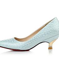 Damen-High Heels-Kleid / Lässig-PU-Kitten Heel-Absatz-Absätze-Blau / Weiß