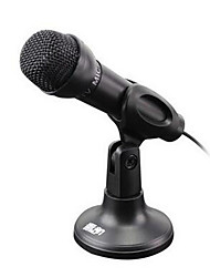 Wired-Handheld Microphone-Computer Microphone with 3.5mm and Stand 2 Pieces a Set