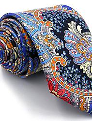 Men's Tie Multicolor 100% Silk Necktie Jacquard Woven Fashion Wedding For Men