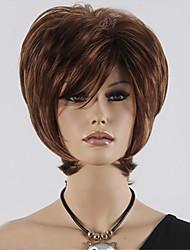 mode courtes perruques brunes blondes naturelles synthétiques de vente chaude.