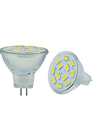 2PCS MR11 12LED SMD5730 6W  DC12V 570LM Warm White / Cool White Decorative