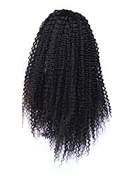 "Mongolian Kinky Curly Front Lace Wigs Lace Front Human Hair Wigs For Black Women CARA Wigs 14""-18"""