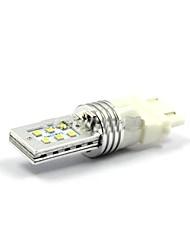2pcs 12w 3157 / t20-12smd-2323 voiture blanche automatique led signal lumineux de tour, la lumière de frein, inverser la lampe dc10-30v