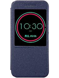 Pour Coque HTC Avec Support Avec Ouverture Veille/Déverrouillage Automatique Coque Coque Intégrale Coque Couleur Pleine Dur Cuir PU pour
