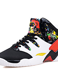 Men's Sneakers Comfort Tulle Outdoor / Athletic / Casual Flat Heel Lace-up Black / Blue / Black and Red shoes