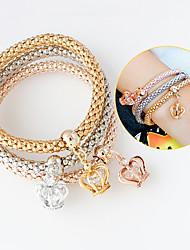 Damen Bettelarmbänder Modisch Aleación Kronenform Gold/Silber Schmuck Für 1 Set