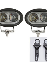 2PC Cree 20W 4D Led Work Light Bar Offroad Driving Bar Car 12V +1 inch A pair Mounting Brackets