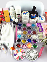 62PCS Gel Nail Practical  NailProducts Uv Gel Lamp Nail Art Tool Kits Manicure Set