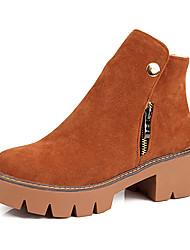 Women's Boots Fashion Boots / Combat Boots / Round Toe Fleece Outdoor / Dress / Casual Platform Fur / Zipper